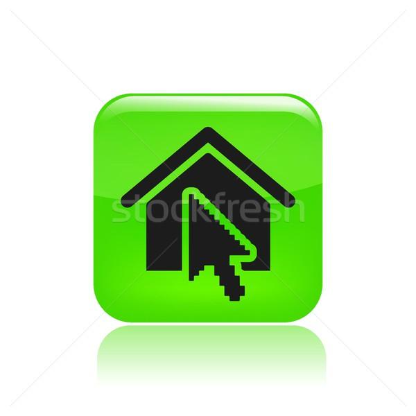 Casa ícone teia botão site Foto stock © Myvector