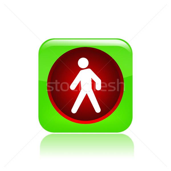 светофора икона красный движения остановки Сток-фото © Myvector