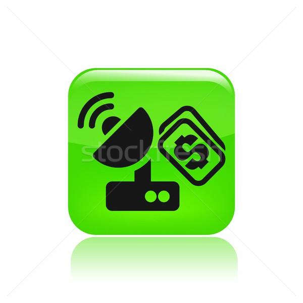 Anteny cena ikona satelitarnej Zdjęcia stock © Myvector