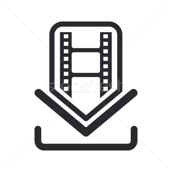Film simgesi indir Internet dizayn bilgisayarlar video Stok fotoğraf © Myvector