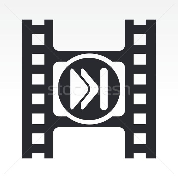видео икона фильма кнопки вектора иконки Сток-фото © Myvector