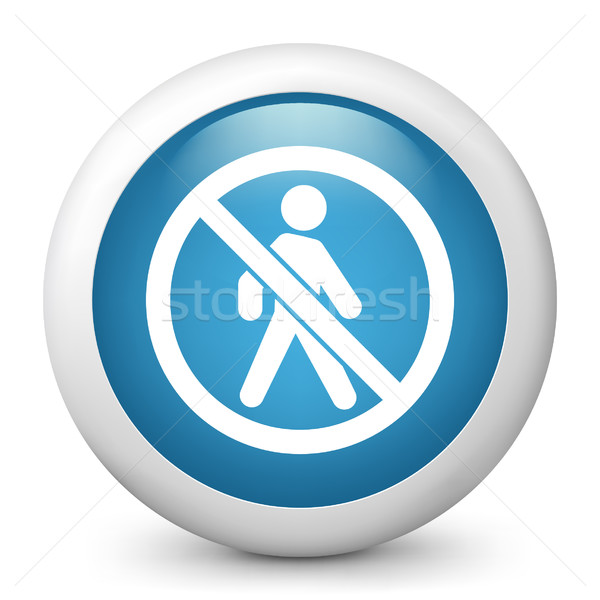 Blue glossy icon Stock photo © Myvector