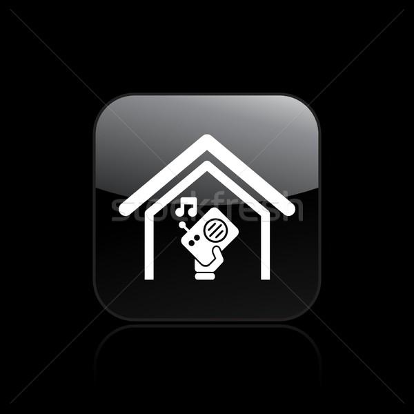 Radio icon muziek huis Stockfoto © Myvector