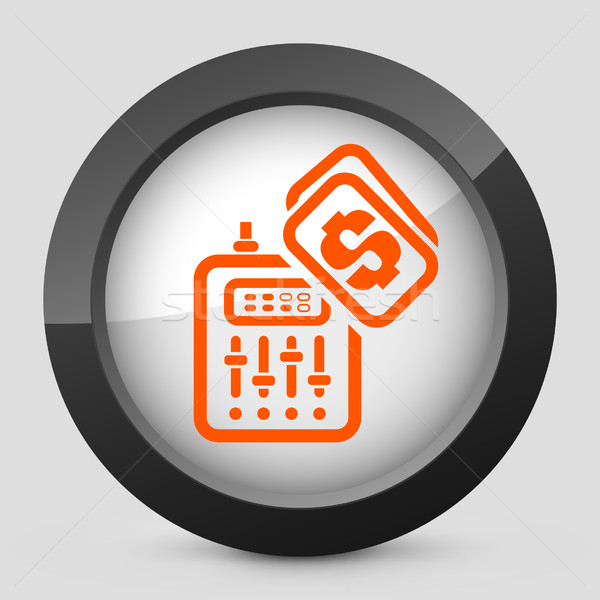 Elegant orange glossy icon Stock photo © Myvector