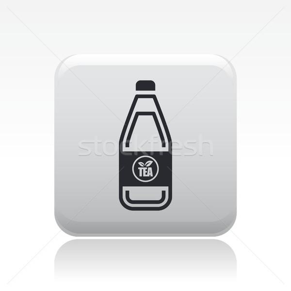 Thee fles icon bar drinken container Stockfoto © Myvector