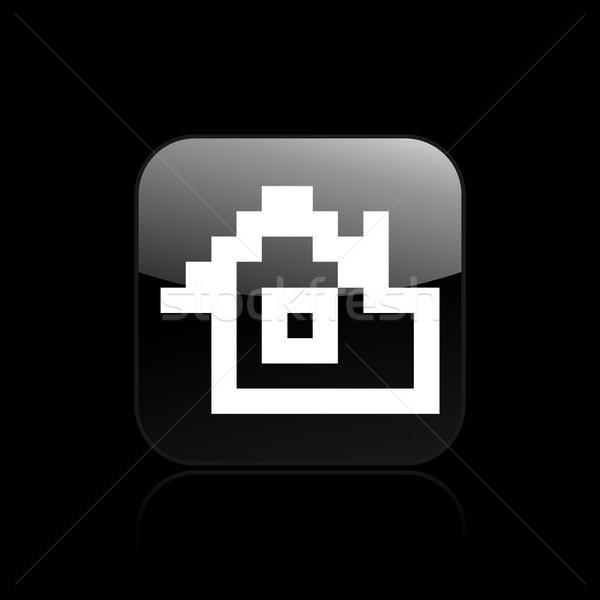 Pixel pc icône ordinateur maison Photo stock © Myvector