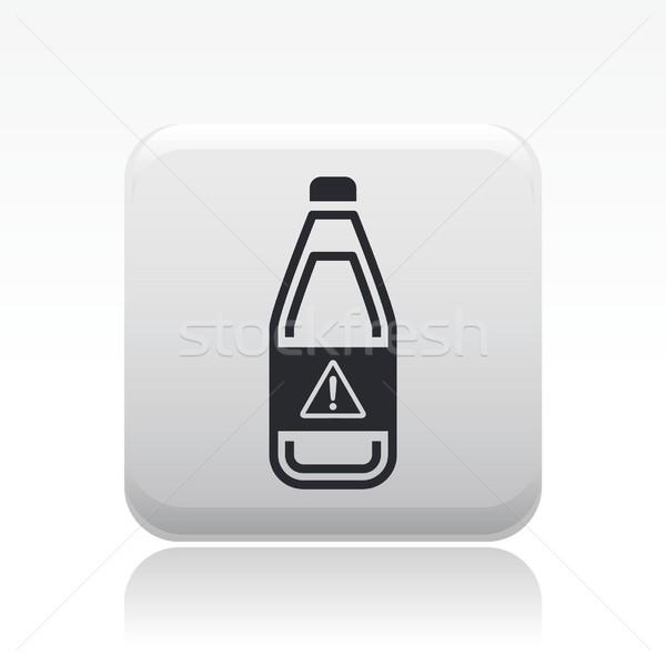 опасный бутылку икона жидкость загрязнения Label Сток-фото © Myvector
