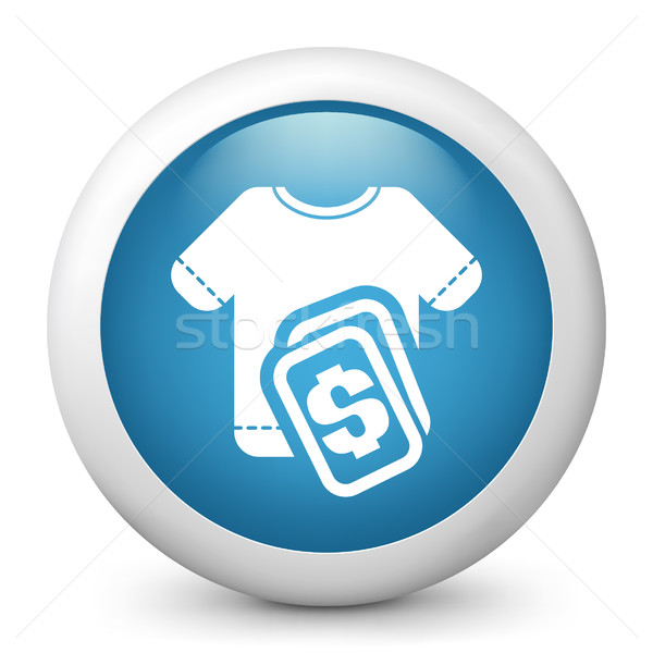 A icon depicting a t-shirt price Stock photo © Myvector