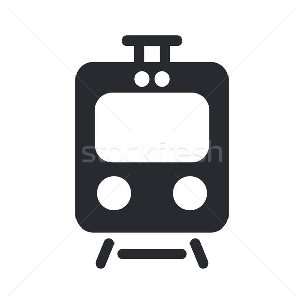 поезд икона вектора Сток-фото © Myvector
