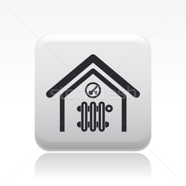Temperatuur home icon kamer appartement Stockfoto © Myvector