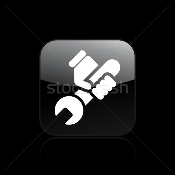 Teknik ikon tamir vektör simge Stok fotoğraf © Myvector
