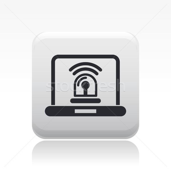 веб тревогу икона компьютер дома домой Сток-фото © Myvector