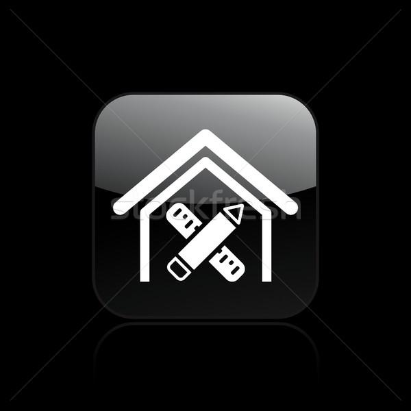 Сток-фото: карандашом · икона · дома · пер · правителя · проект