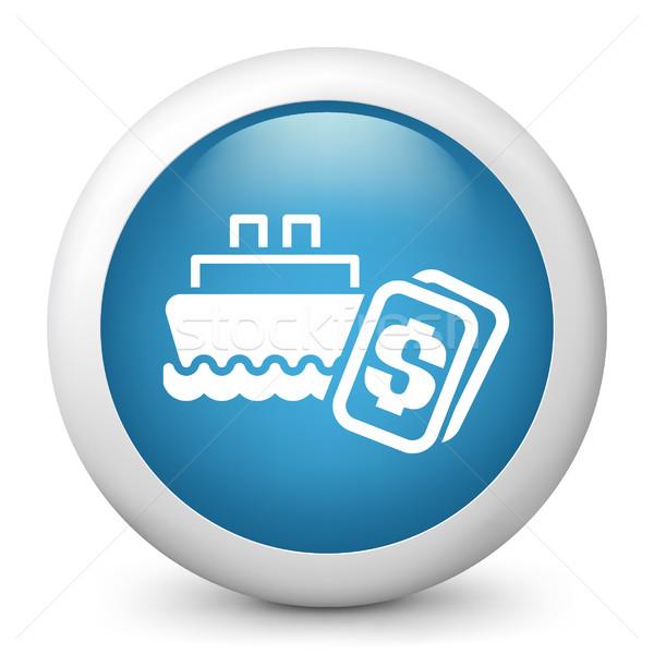 Niebieski ikona ceny morza Zdjęcia stock © Myvector