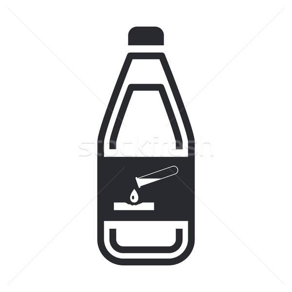 опасный бутылку икона химического жидкость загрязнения Сток-фото © Myvector
