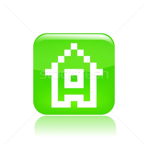 Сток-фото: Пиксели · икона · компьютер · дома · файла · концепция