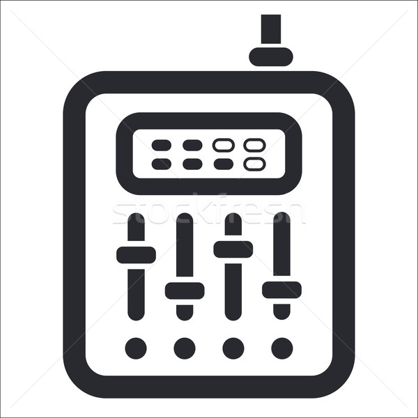 смеситель икона музыку дискотеку аудио слушать Сток-фото © Myvector