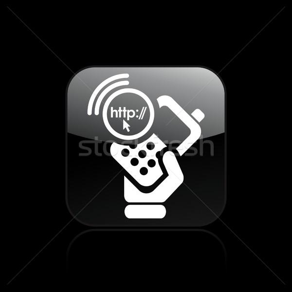 Phone http icon Stock photo © Myvector