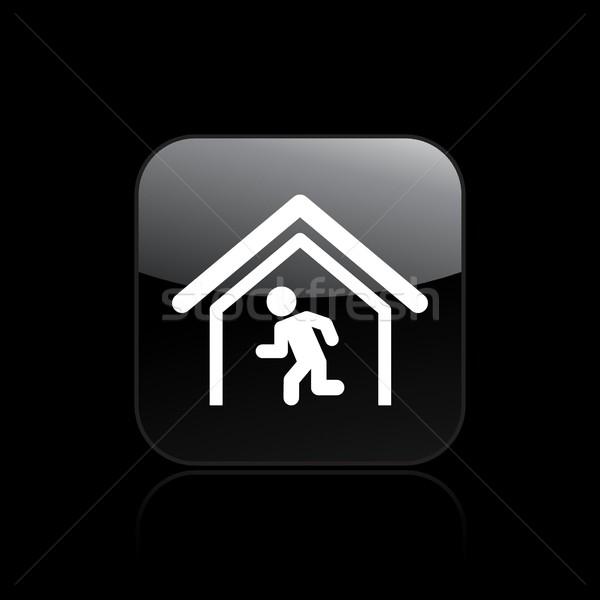 Escapar icono casa ejecutando Foto stock © Myvector