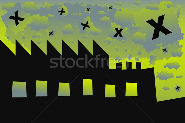 Vector pollution industry background design Stock photo © Myvector