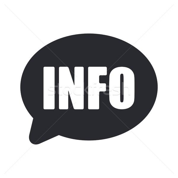 Info ikona wiadomości danych pojęcia sprawozdanie Zdjęcia stock © Myvector
