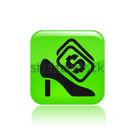 Single icon depicting a shoe price Stock photo © Myvector