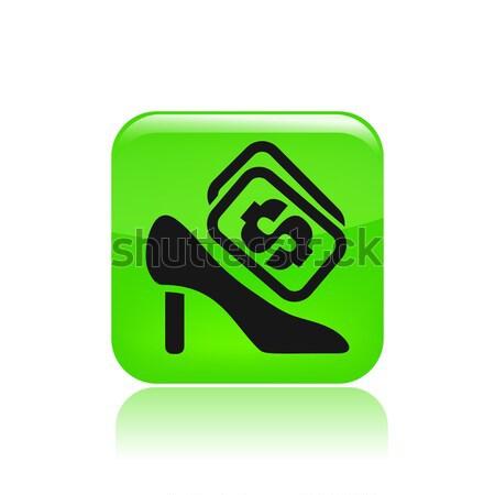 икона обуви цен деньги рынке женщины Сток-фото © Myvector