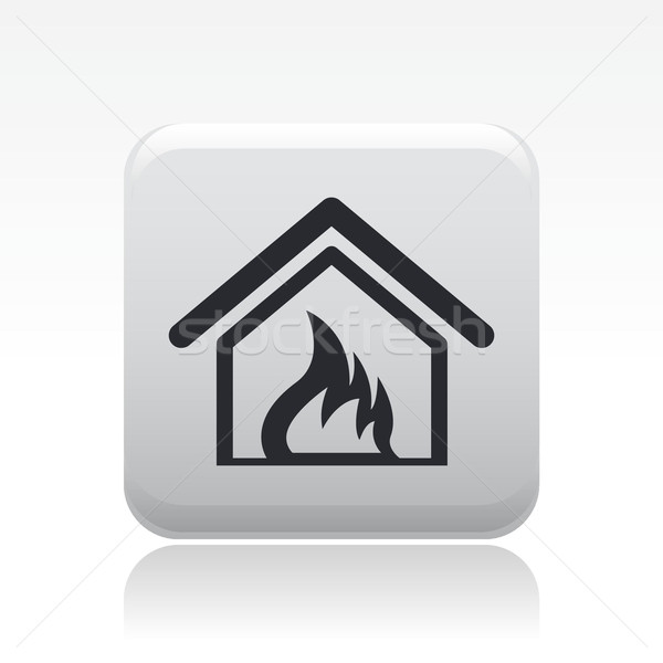 дома сжигание икона домой Сток-фото © Myvector
