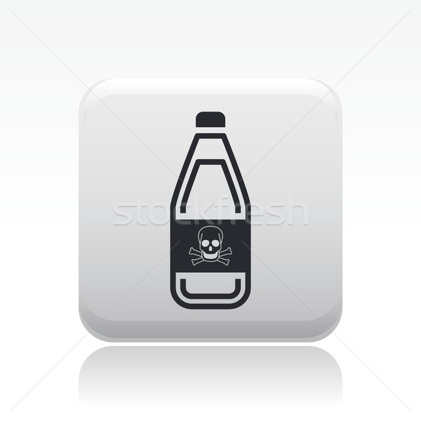 Danger bottle icon Stock photo © Myvector