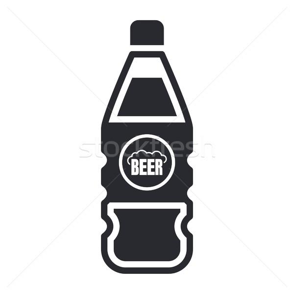 пива икона пить Label Сток-фото © Myvector