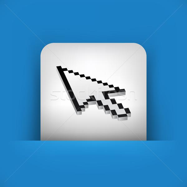 Blu grigio icona computer mouse arrow Foto d'archivio © Myvector