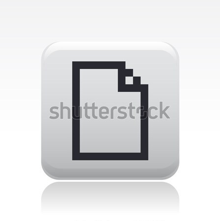 Пиксели значок компьютера компьютер файла новых концепция Сток-фото © Myvector