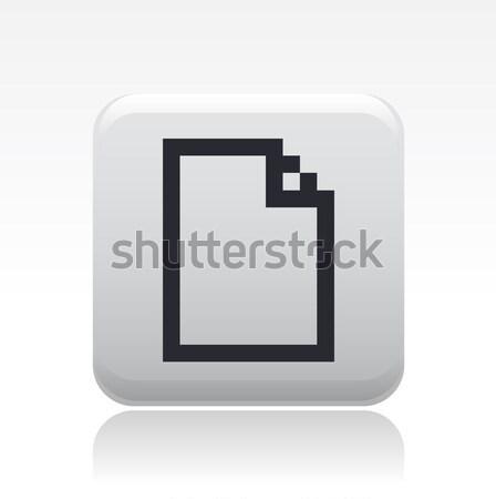 Computer icon komputera pliku nowego pojęcia Zdjęcia stock © Myvector