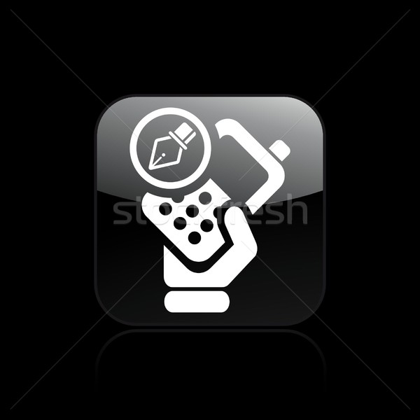 Drawing phone icon Stock photo © Myvector