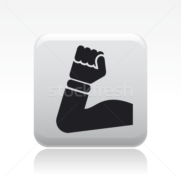 Muscolare icona palestra formazione potere simbolo Foto d'archivio © Myvector