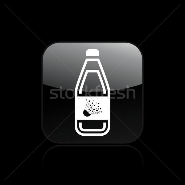 Tehlikeli şişe ikon Stok fotoğraf © Myvector