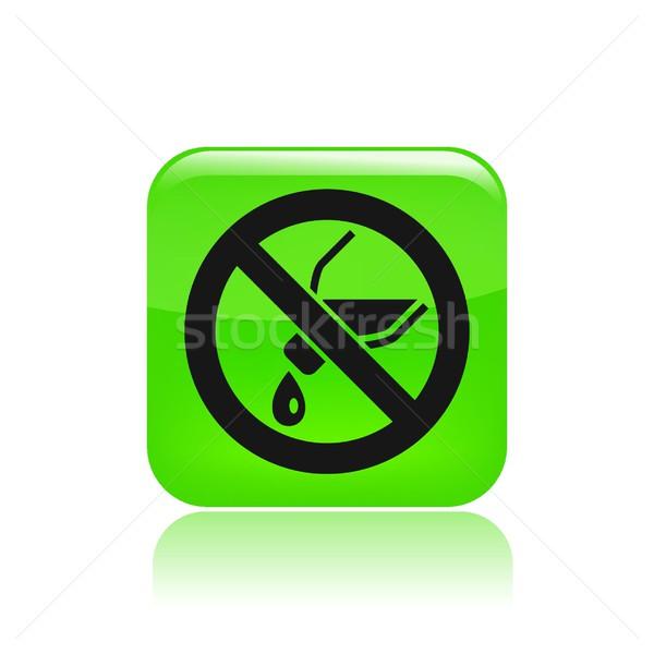 Niet icon fles Stockfoto © Myvector
