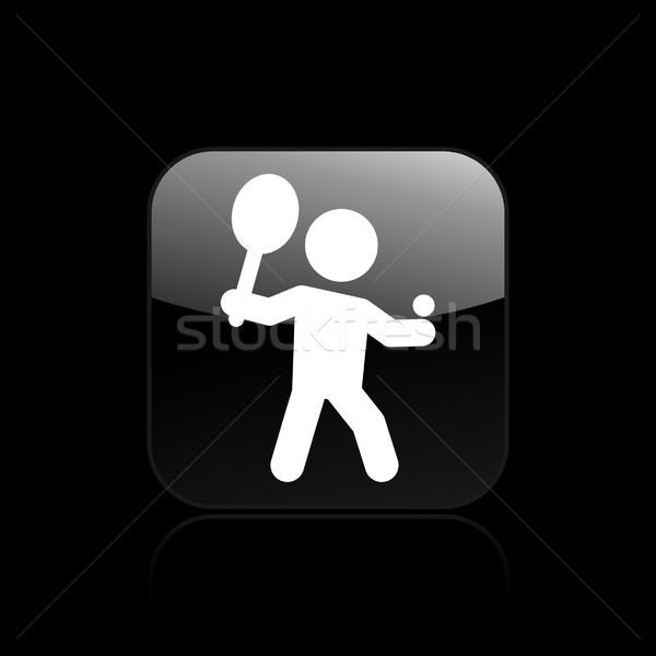 теннис икона тренировки тренер выстрел Сток-фото © Myvector