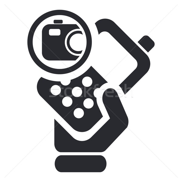 Camera phone icon Stock photo © Myvector