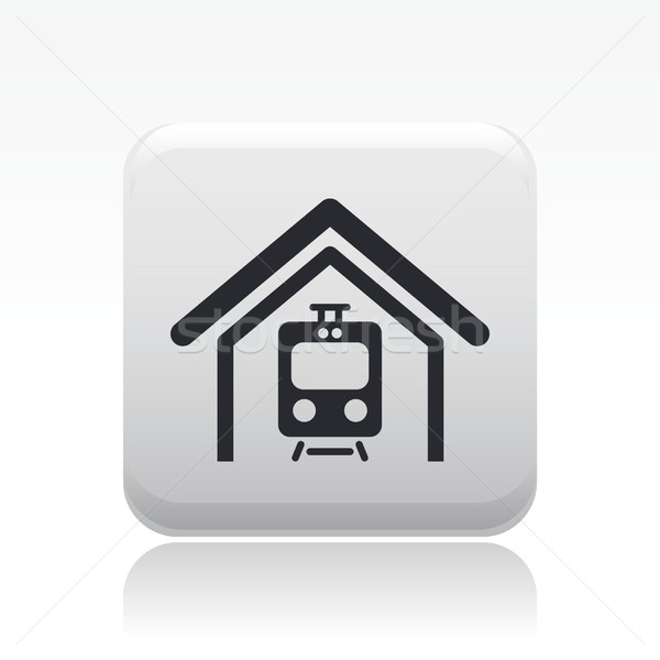 поезд икона галерея курорта Сток-фото © Myvector