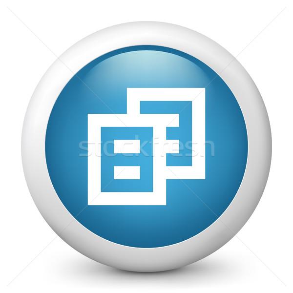Blu lucido icona computer carta concetto Foto d'archivio © Myvector