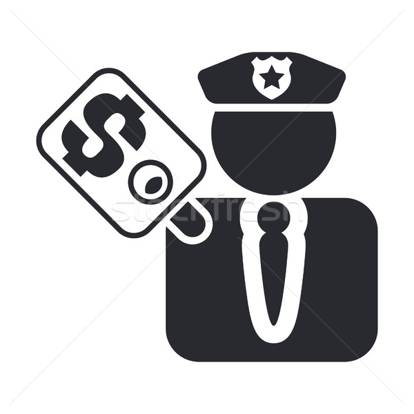 Cop corruption icon Stock photo © Myvector