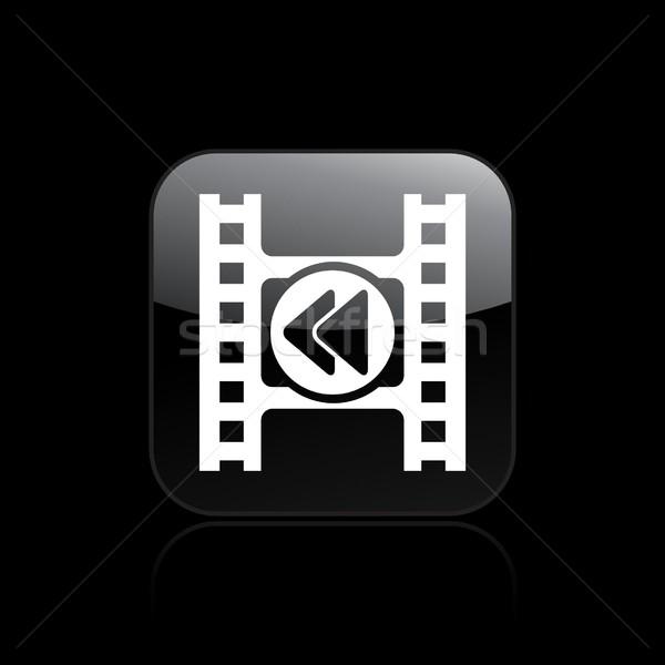 Video rewind icon Stock photo © Myvector