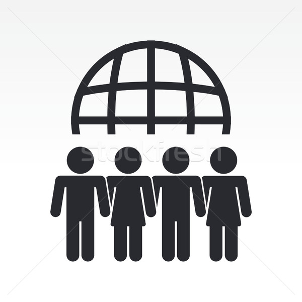 Modern icon depicting a global people meeting Stock photo © Myvector