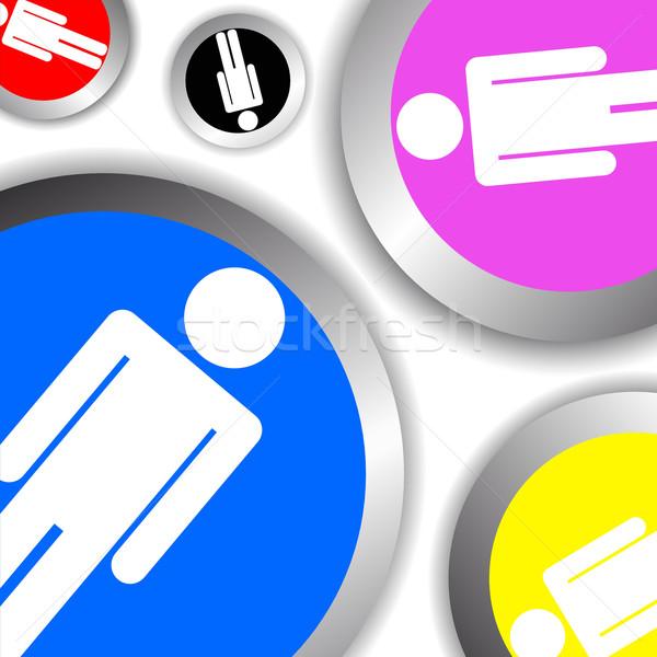 Confusión icono diseno concepto Foto stock © Myvector