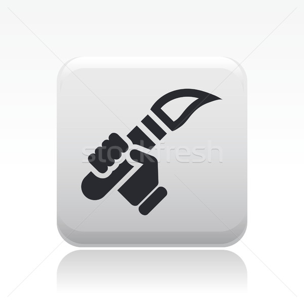 Olympic flame icon  Stock photo © Myvector