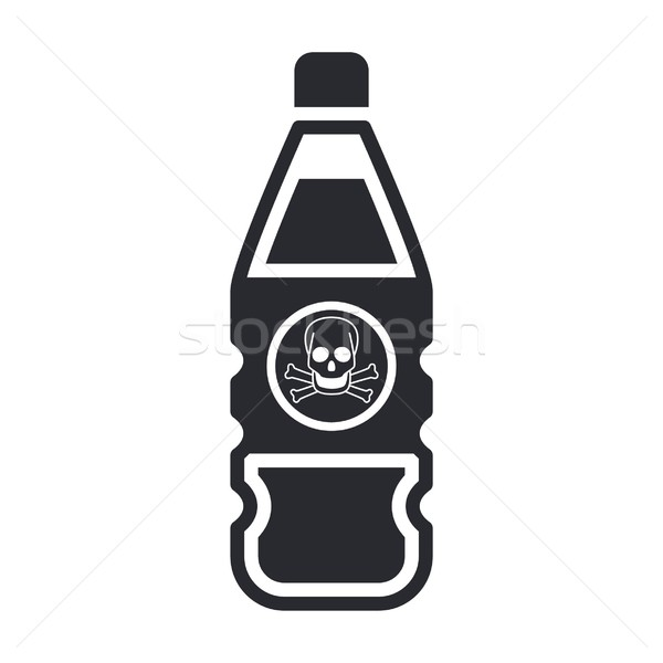 Dangerous bottle icon Stock photo © Myvector