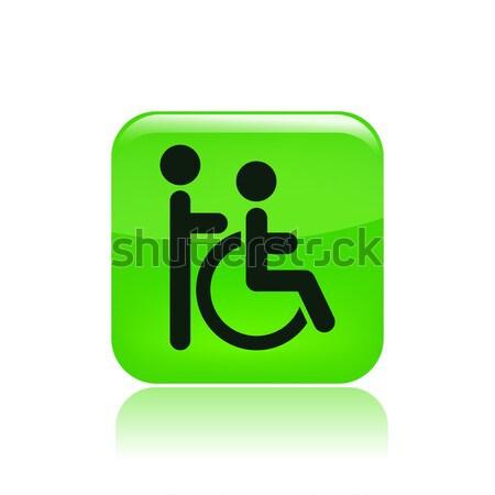 гандикапа икона дома домой социальной инвалидов Сток-фото © Myvector