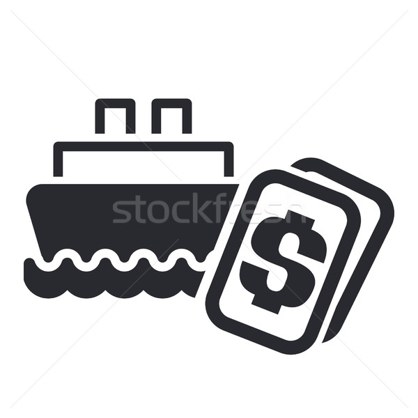 łodzi kosztować ikona ceny Zdjęcia stock © Myvector