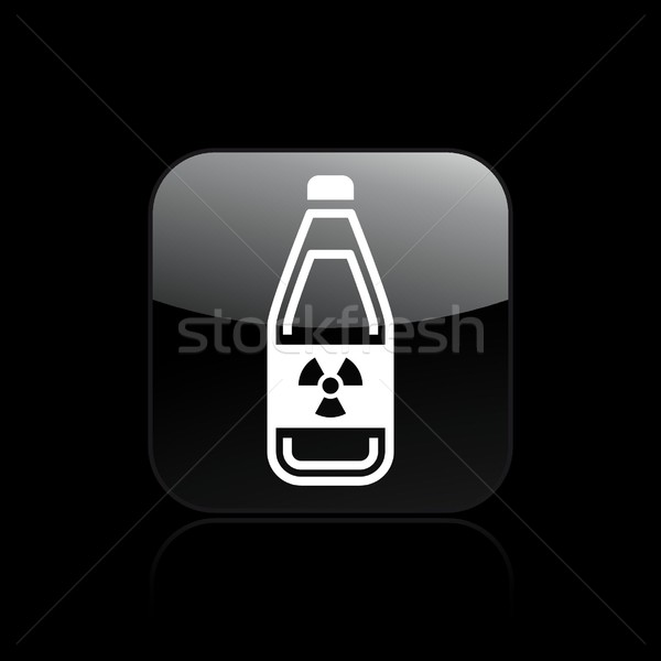 Radioactive liquid icon Stock photo © Myvector